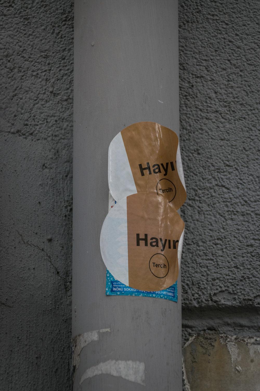 hayir = no