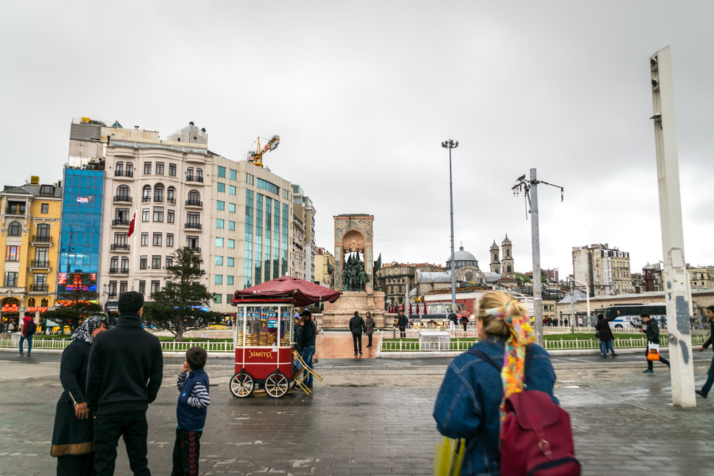 rainy visit to Taksim Square