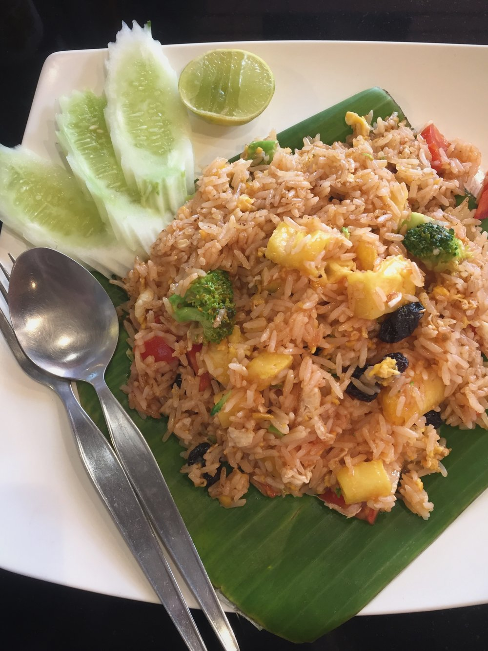 pineapple fried rice with vegetables (Bangkok)