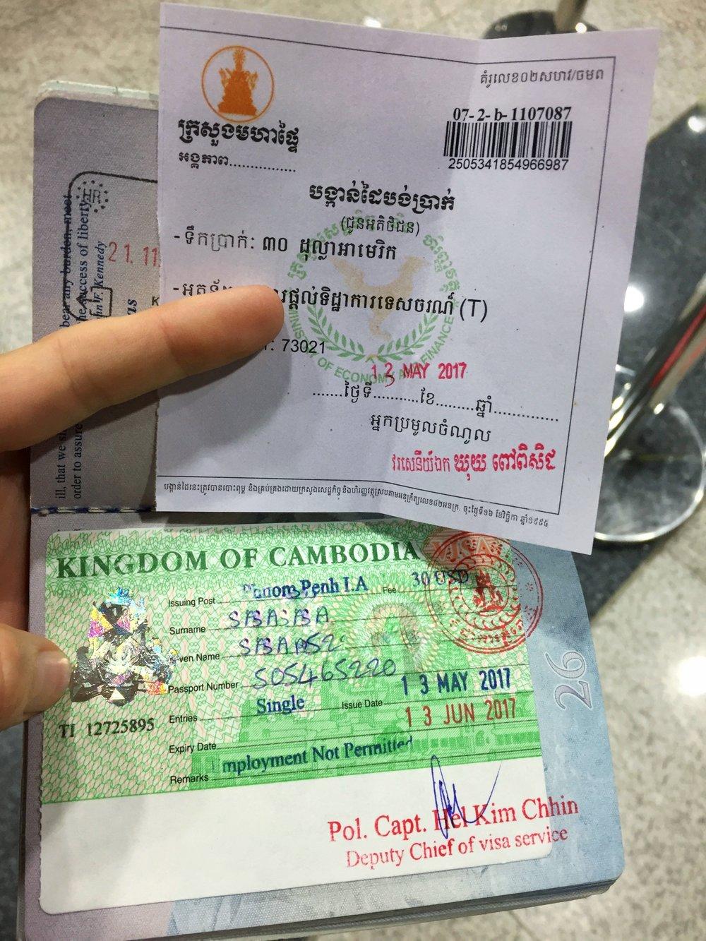 my first ever passport sticker (!)