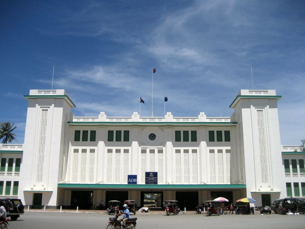another example of Phnom Penh's Art Deco, the railway station (photo credit: travelerguidance.blogspot.com.es)