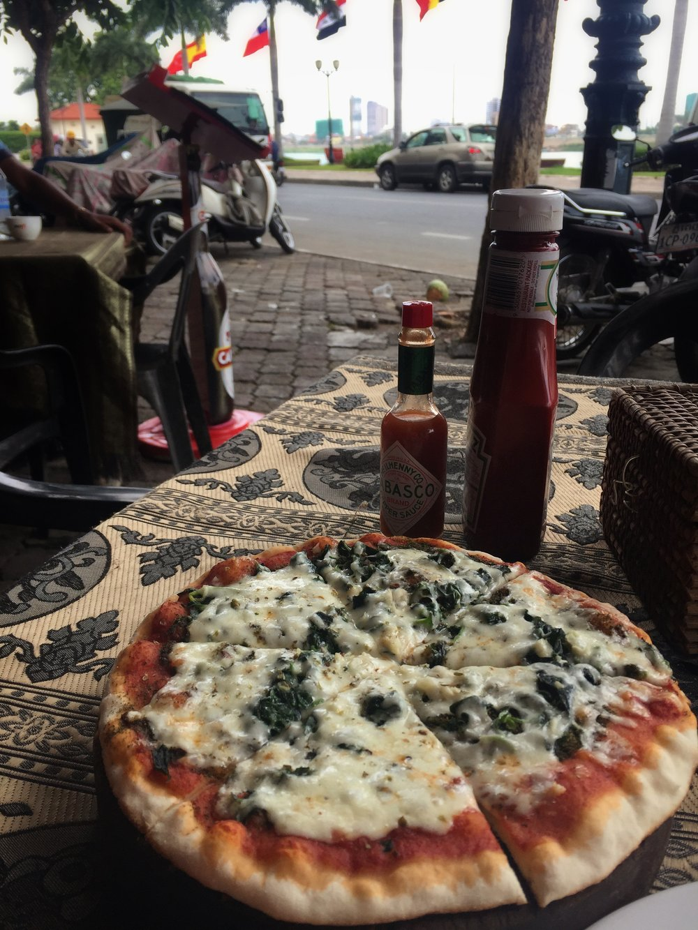 happy pizza in Phnom Penh
