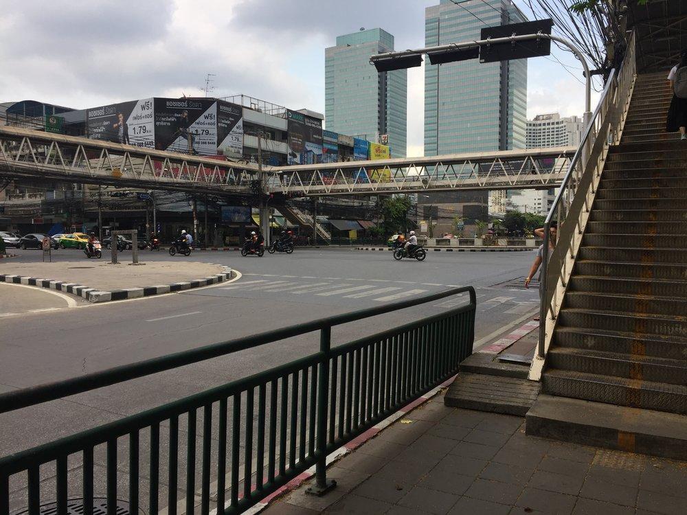 daunting intersection in Bangkok