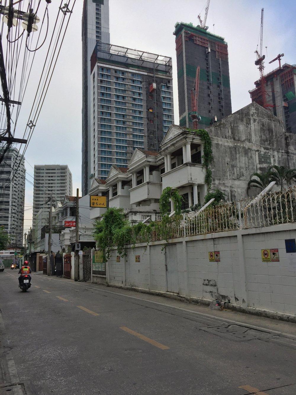 typical Bangkok side street