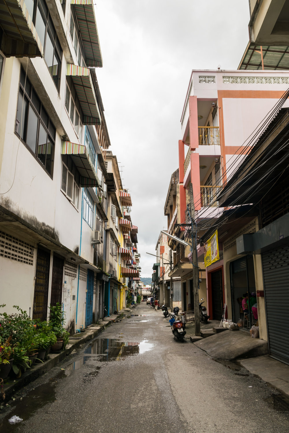 typical alleyway in Phuket, Thailand