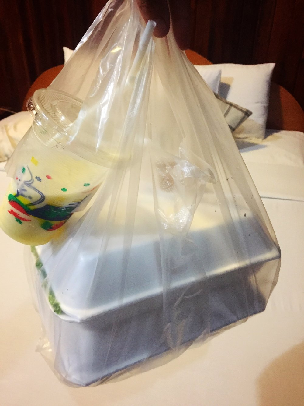 an environmental catastrophe in plastic: dinner to go