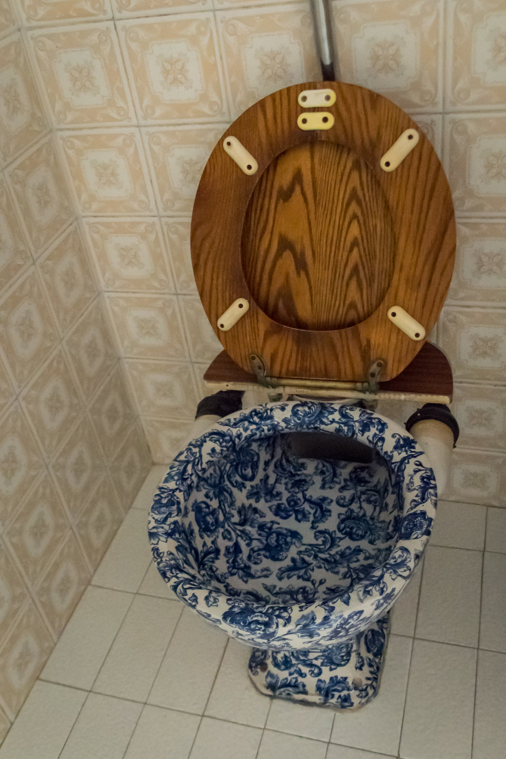 historic porcelain toilet