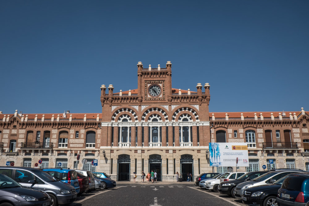 the Neo-Mudéjar-style railway station of Aranjuez