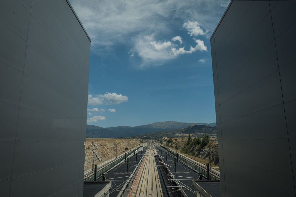 the new Segovia AV train station, a bus ride from the city center