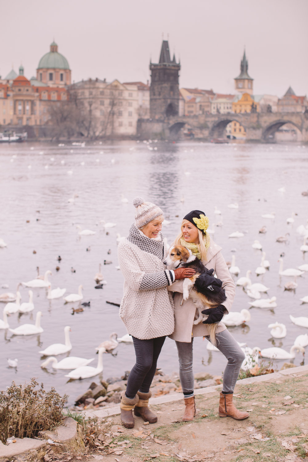 hanging out with my mom in December, Prague (photo credit: Eliska in Prague)