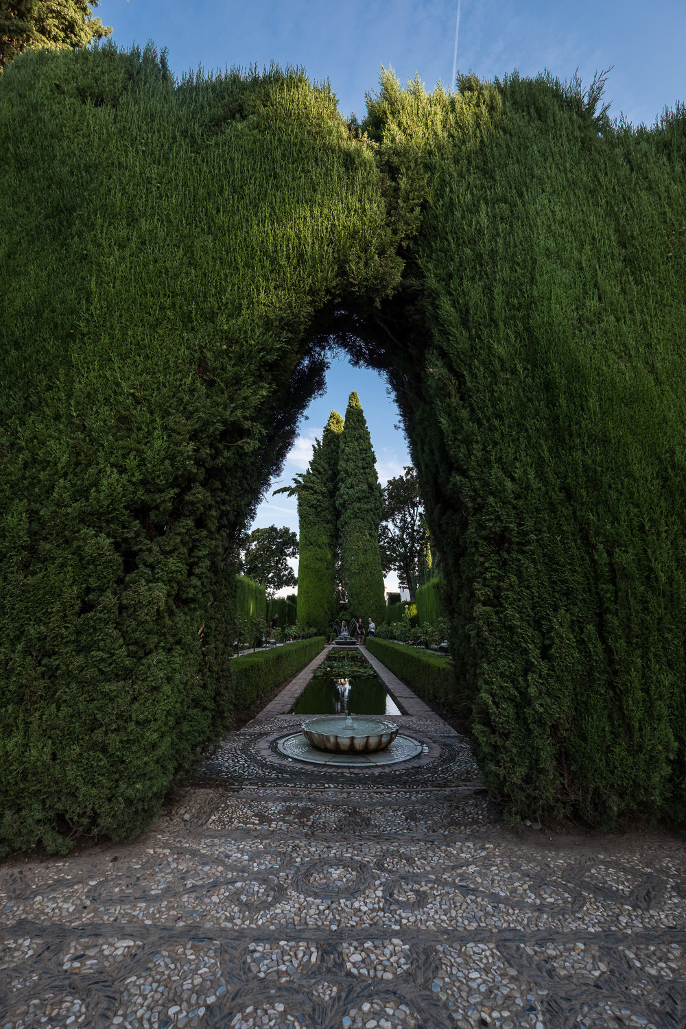 lower gardens at Generalife