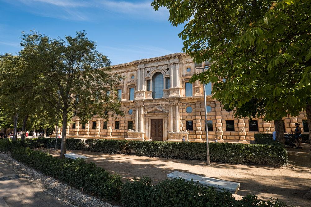 the odd Palacio de Carlos V