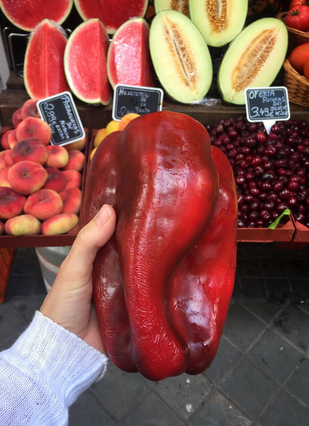 the biggest pepper I've seen in my life