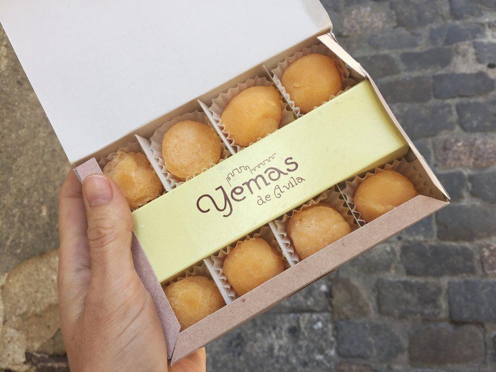yemas in Ávila (aka egg yolks, ugh)
