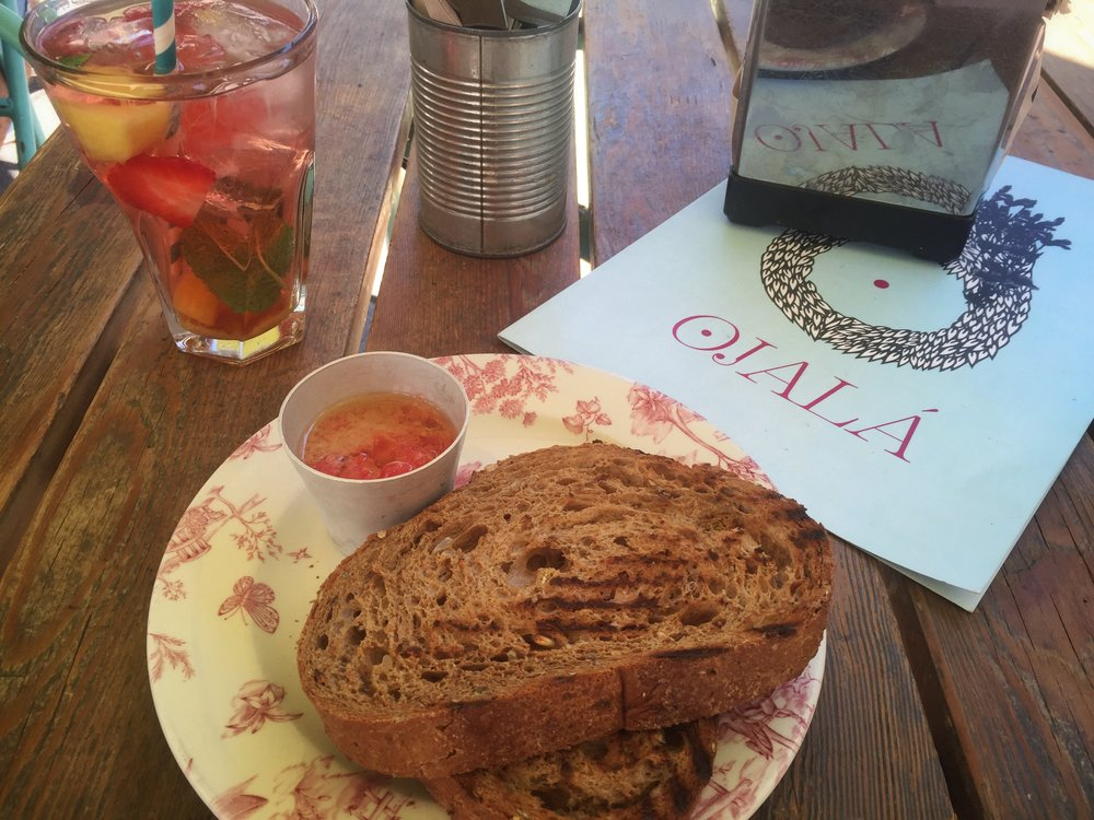 toast & sangría at Ojalá in Madrid