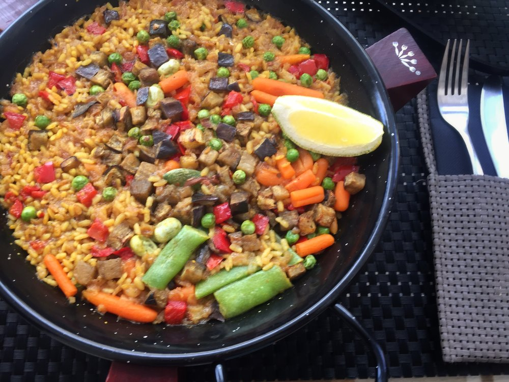vegetarian paella in Toledo
