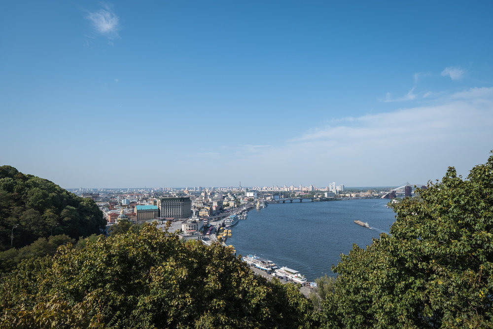 beautiful view of the Dnieper River