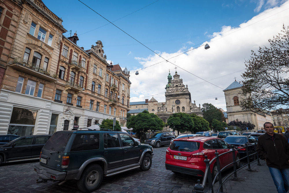 there's always a traffic jam in Lviv
