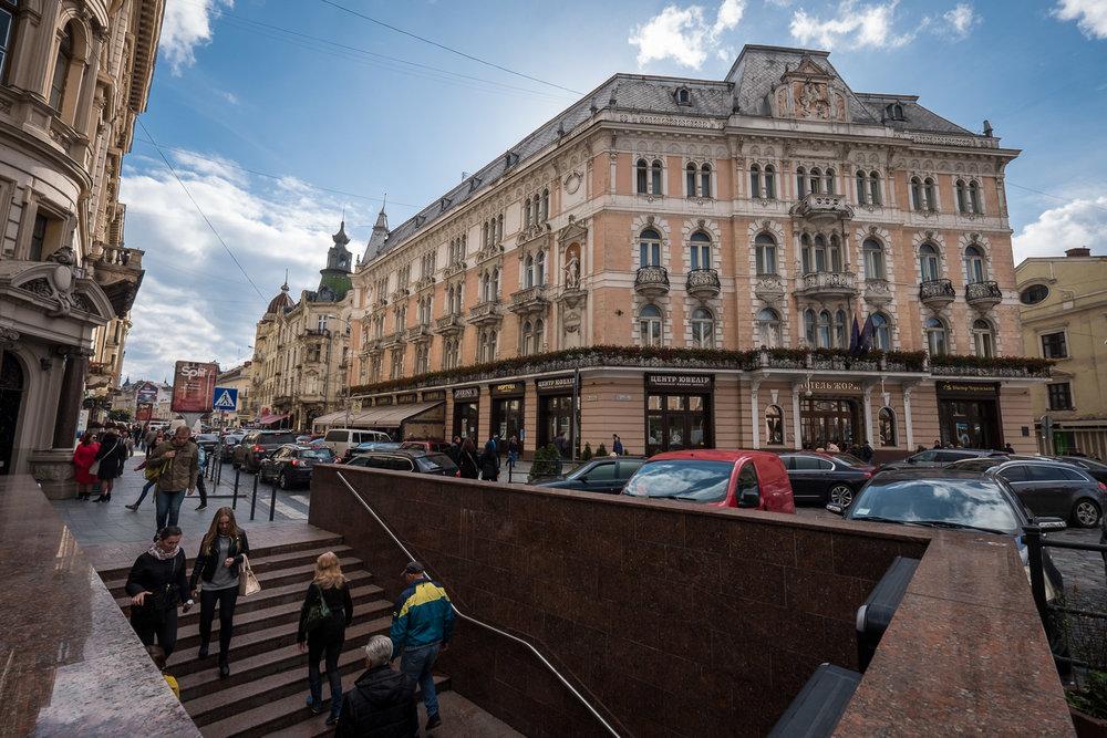 underground crosswalk in Lviv