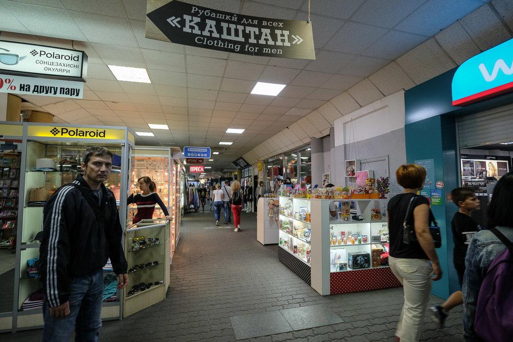 a gauntlet of tacky shops