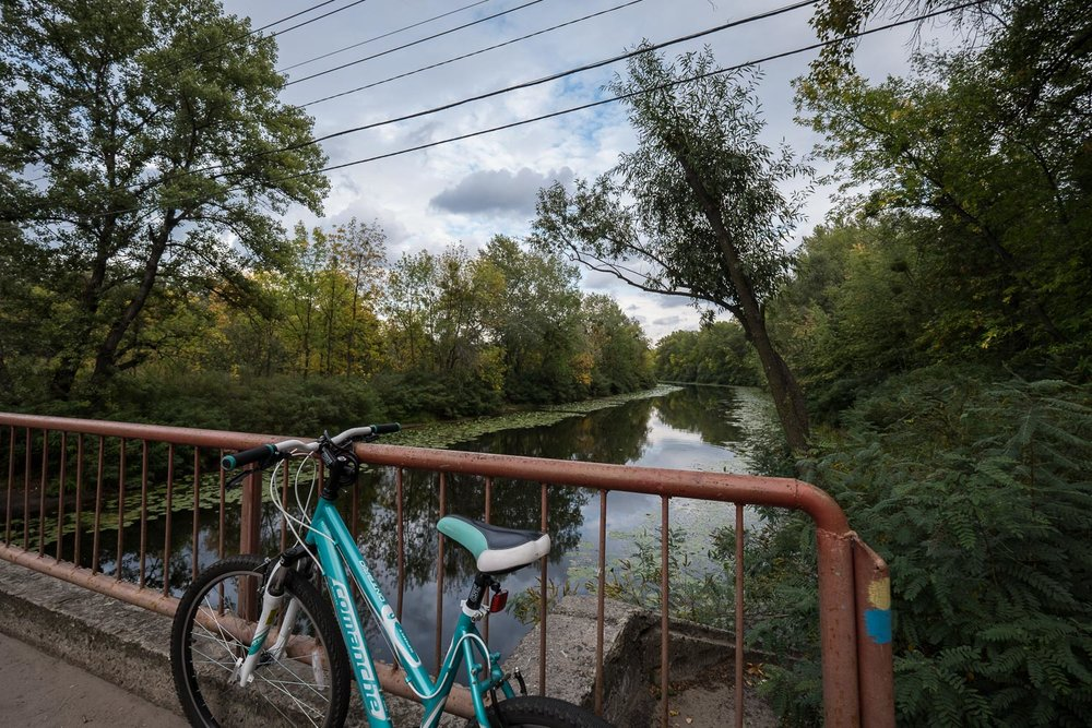 Trukhaniv Island, a tranquil, safe spot for cycling
