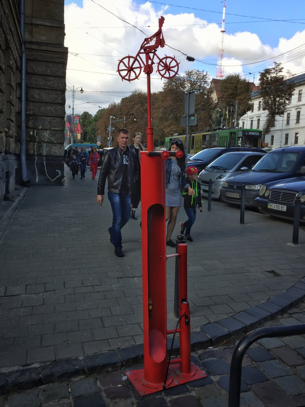 the city center has a few handy bike repair stations