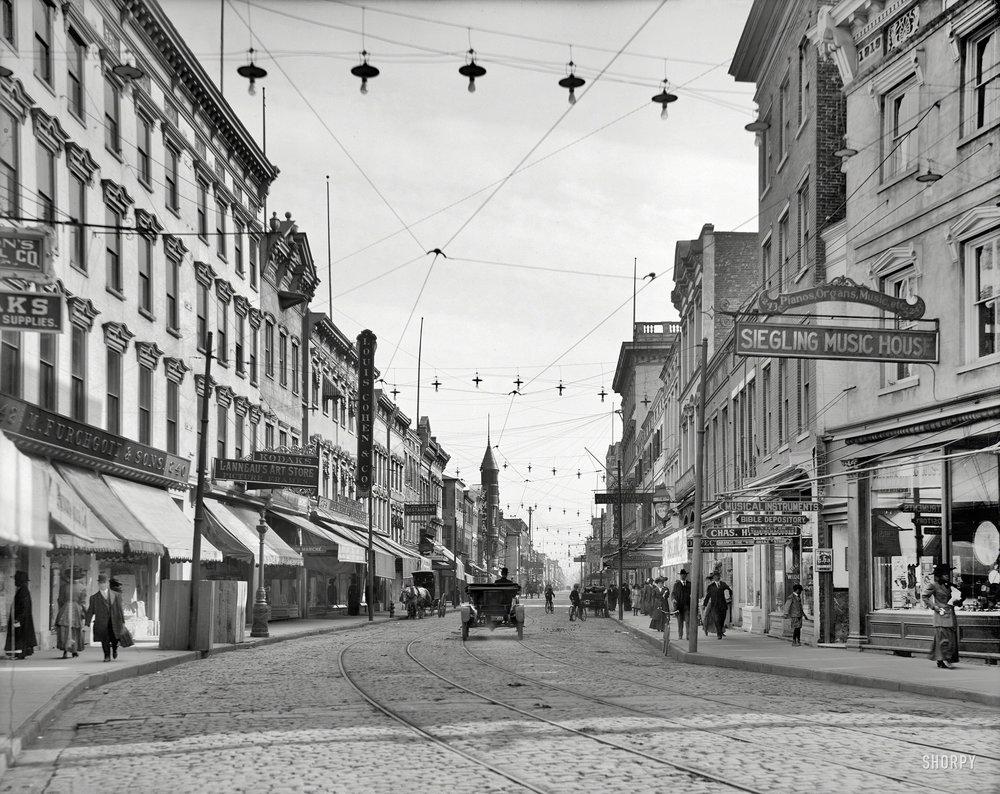 King Street, circa 1910 (photo credit:  shorpy.com )