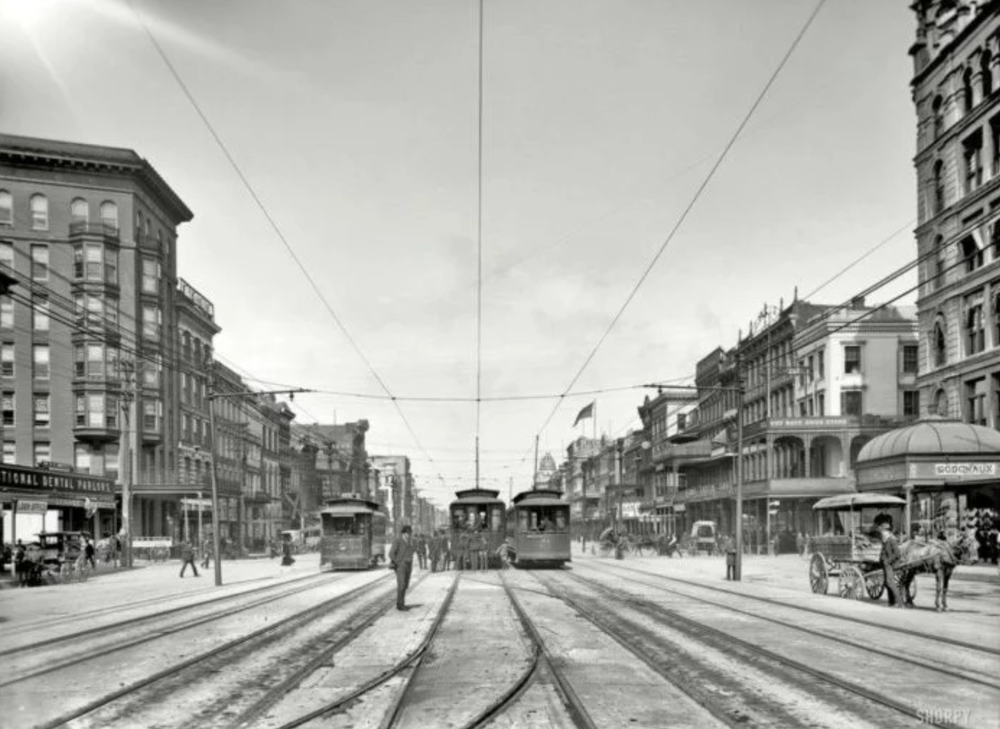Canal Street circa 1907(photo credit:  onlyinyourstate.com )
