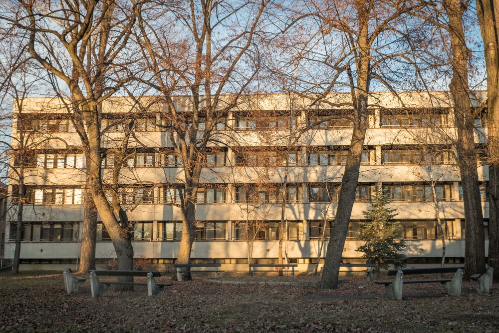 building 5, surgical hospital, 1980 by Tamás Tomay and Levente Varga