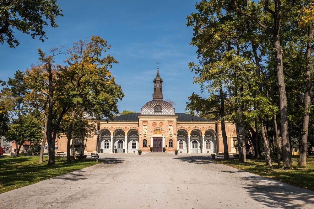 crematorium of Mirogoj Cemetery, one of the largest -- and most beautiful -- cemeteries in Europe