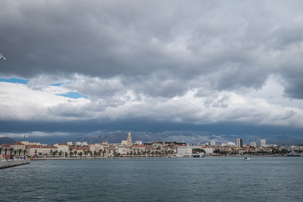 view of Split from the marina