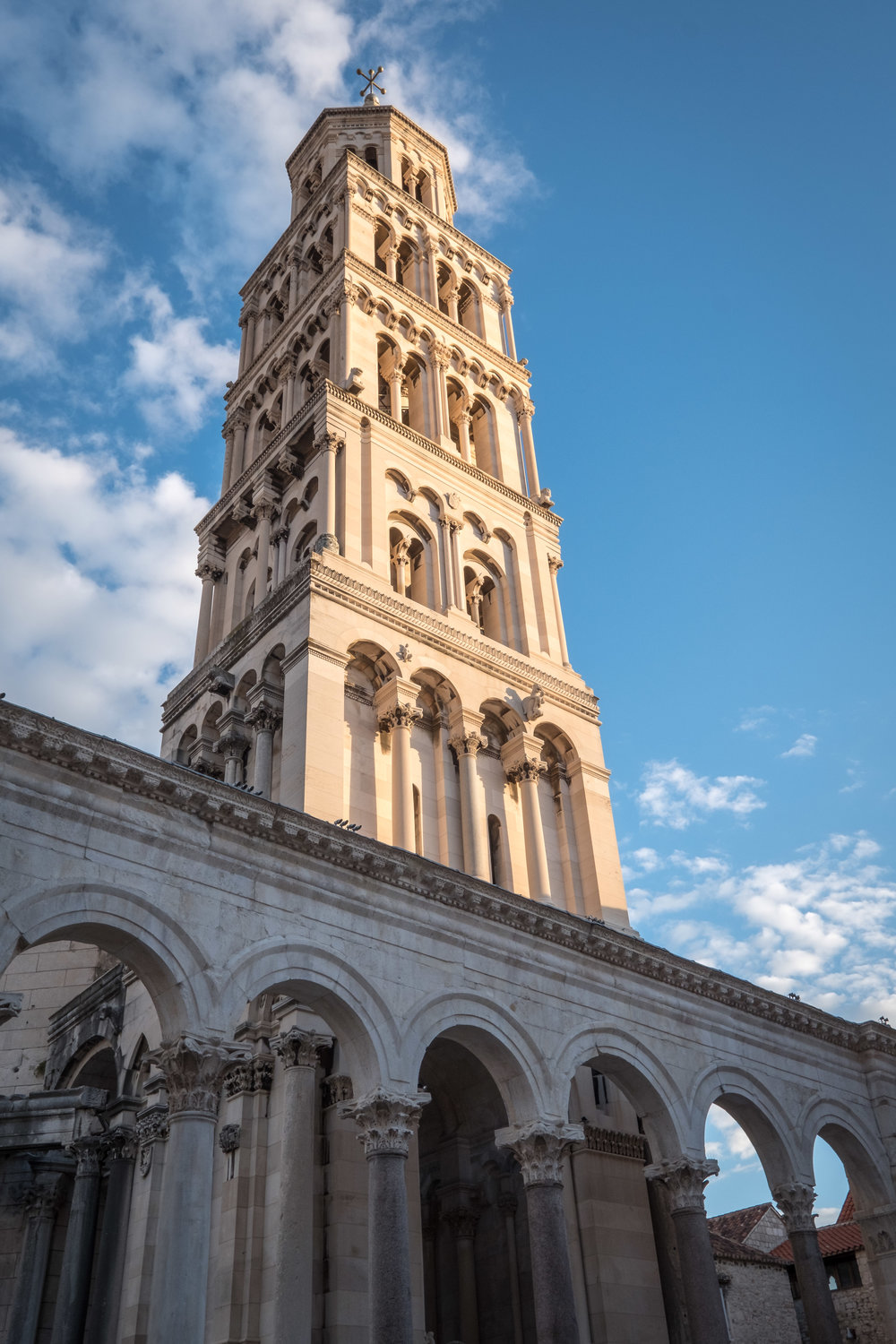 Cathedral of Saint Domnius' bell tower in Split, Croatia