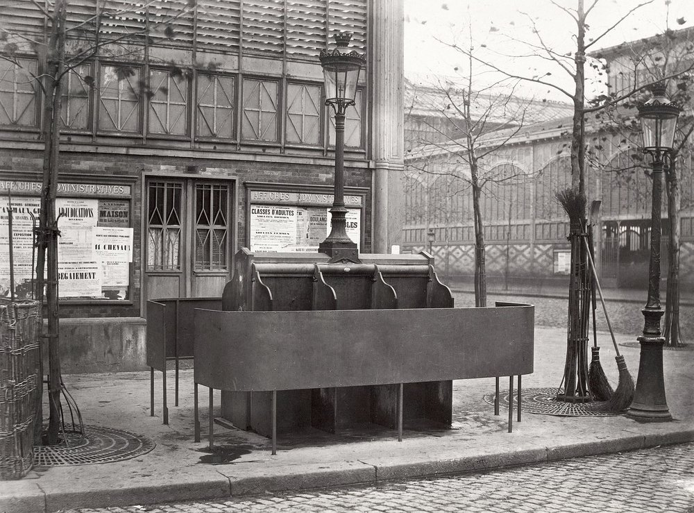 circa 1865 pissoir in Paris that Miller may have used, photographed by Charles Marville