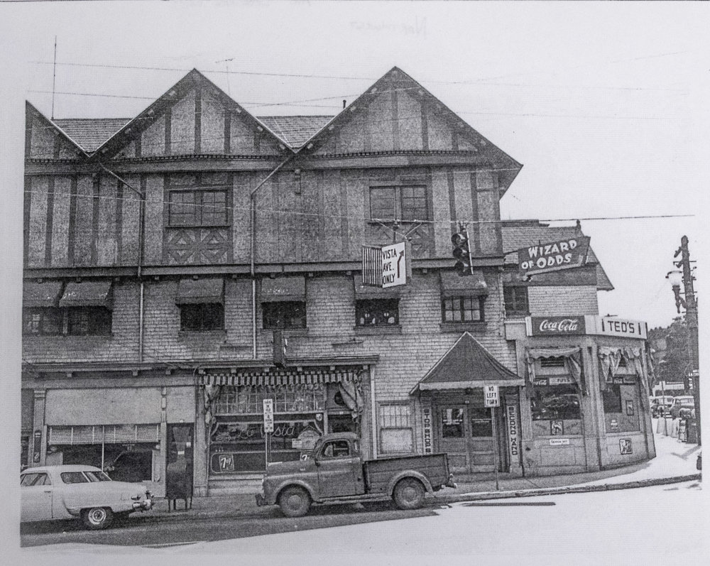 The same curious building, 1952