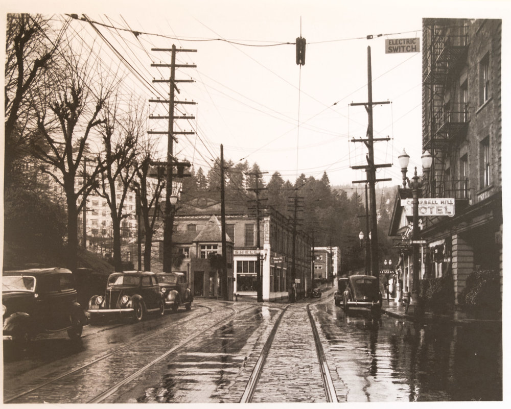 On Burnside looking at 23rd from the east, 1939