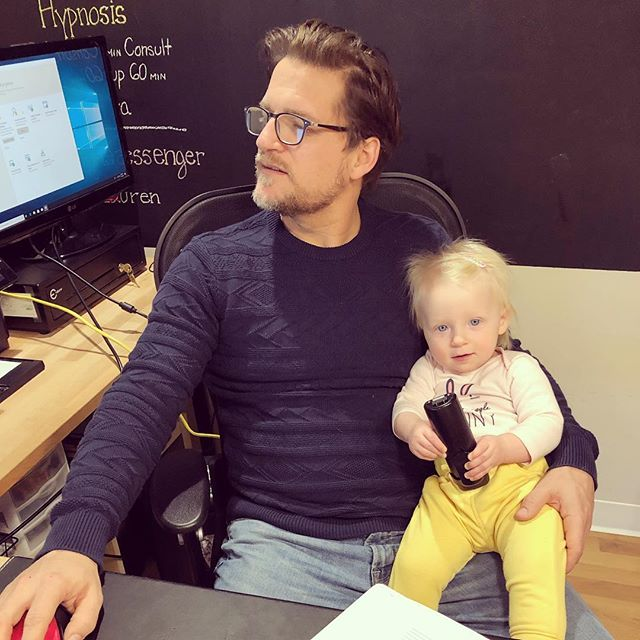 The littlest chiropractic assistant. #chiropractor #familybusiness