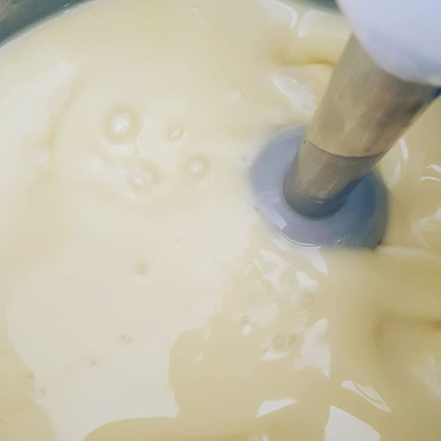 Yes, this beautiful slurry will soon be an organic soap for the body and senses to enjoy. 😍 This one is our anise soap, and its delightful! My nose is SO happy right now👃❤....the aroma of anise essential oil is amazing!!