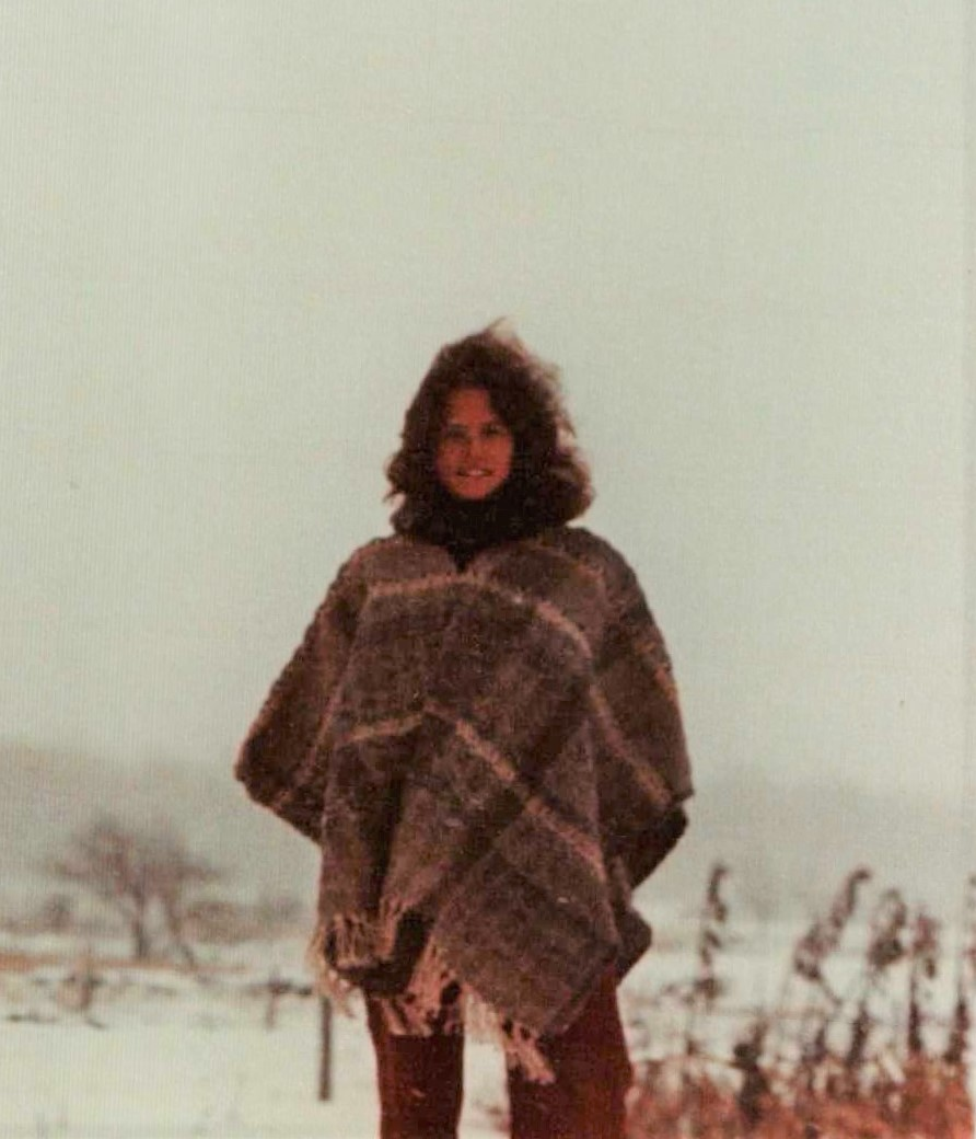 Carol Wearing Poncho (in snow).jpg