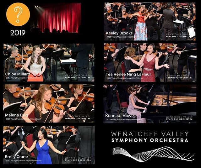 The 2019 Young Musician Competition will be held on March 23, 2019. If you are a music student who takes private lessons or participates in a school music program, we encourage you to enter the Wenatchee Valley Symphony's Young Musician Competition for a chance to earn the opportunity to perform as a soloist with the WVSO and receive a significant college scholarship!  For more information and entry forms click the link in bio. But Hurry- March 15, 2019 - is the application deadline!