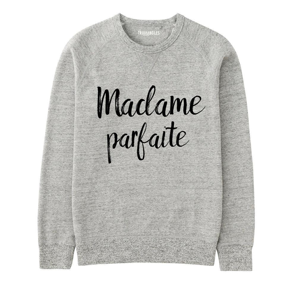 Sweat Gris Chiné - Coupe Femme - Artshop Triaaangles ® FW16/17