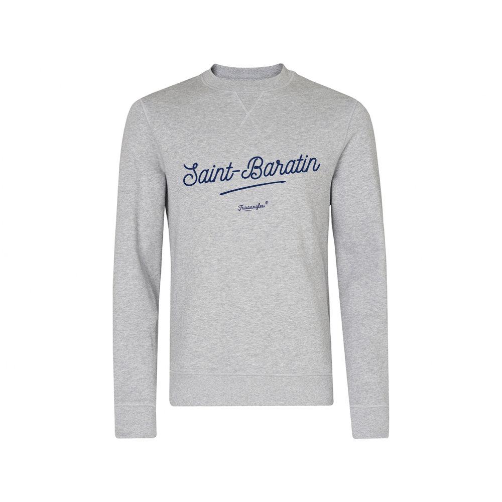 NOUVEAUTE : Sweat Triaaangles ® gris chiné Saint-Baratin - Disponible également en bleu marine ou noire impression blanche sur l'eShop. Sweat 85% coton 15% polyester, imprimé en France.