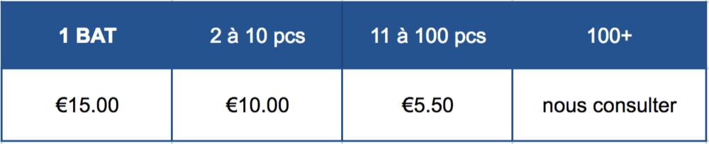 * Tarifs HT  Pose d'étiquette col : 0.60€ pu.ht Pliage et mise sous sachet : 0.20€ pu.ht Frais de maquette sur devis