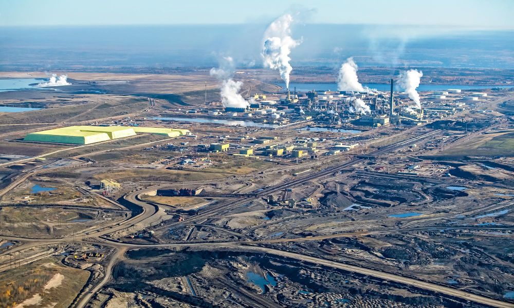 The Syncrude project near Fort McMurray, Alberta. Canada's largest oil project.