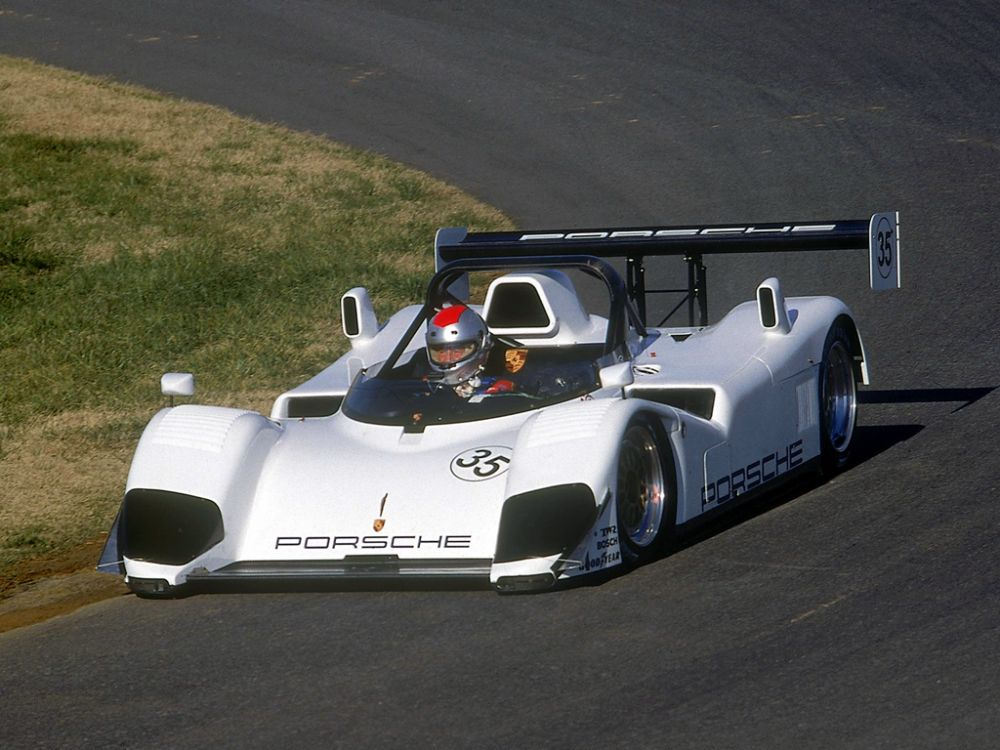 The original IMSA WSC spec Porsche WSC-95 during testing.
