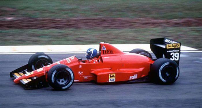 Gary Brabham about to be surprised,Interlagos 1990.