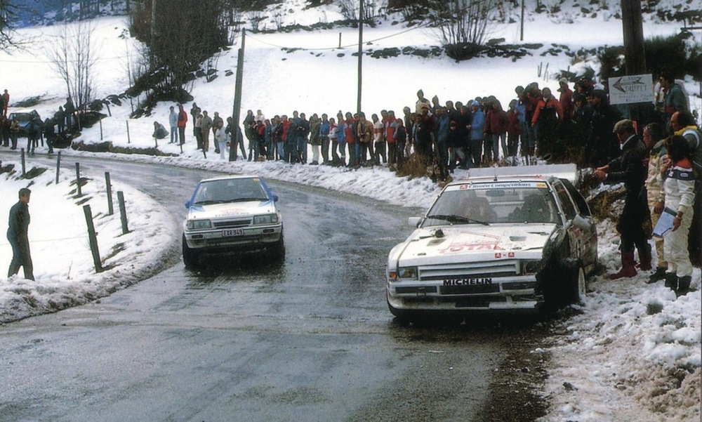 Jean-Claude Andruet's stranded BX4TC, Rallye Monte Carlo 1986.