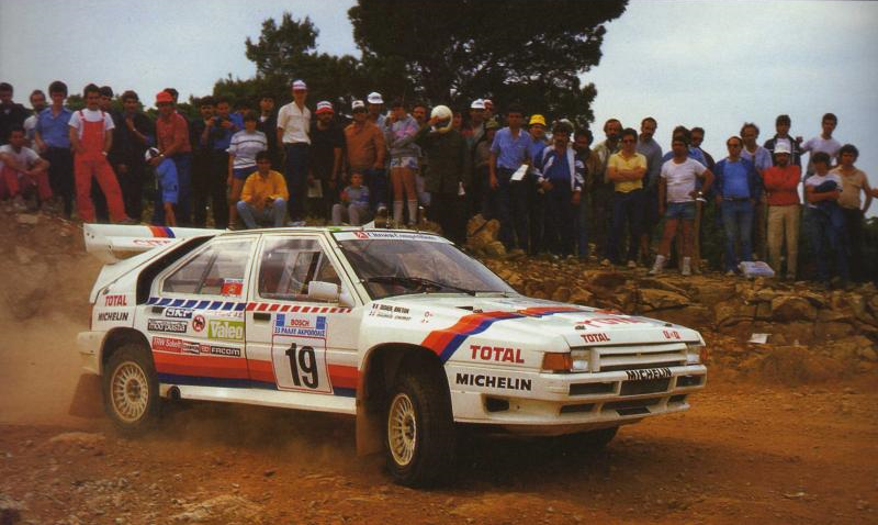 Maurice Chomat and Didier Breton, 1986 Acropolis Rally.