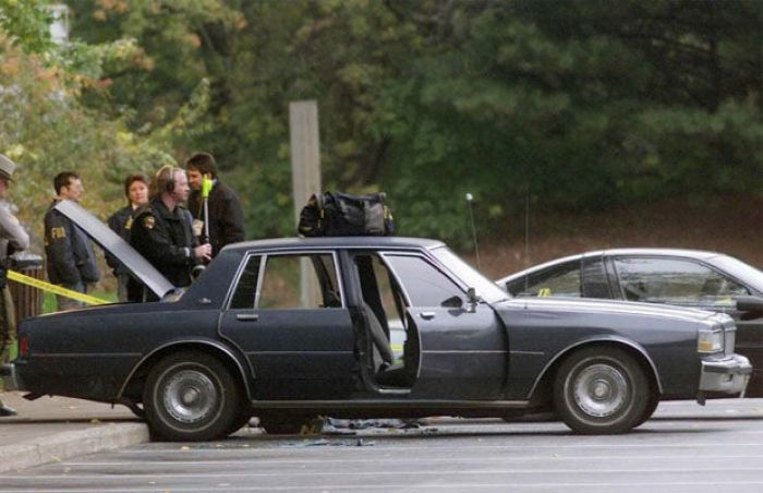 This is the very car that brought terror to the D.C. Beltway for three weeks in October of 2002.