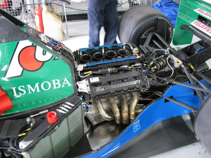 The Ford HB V8 as mounted to the Jordan chassis