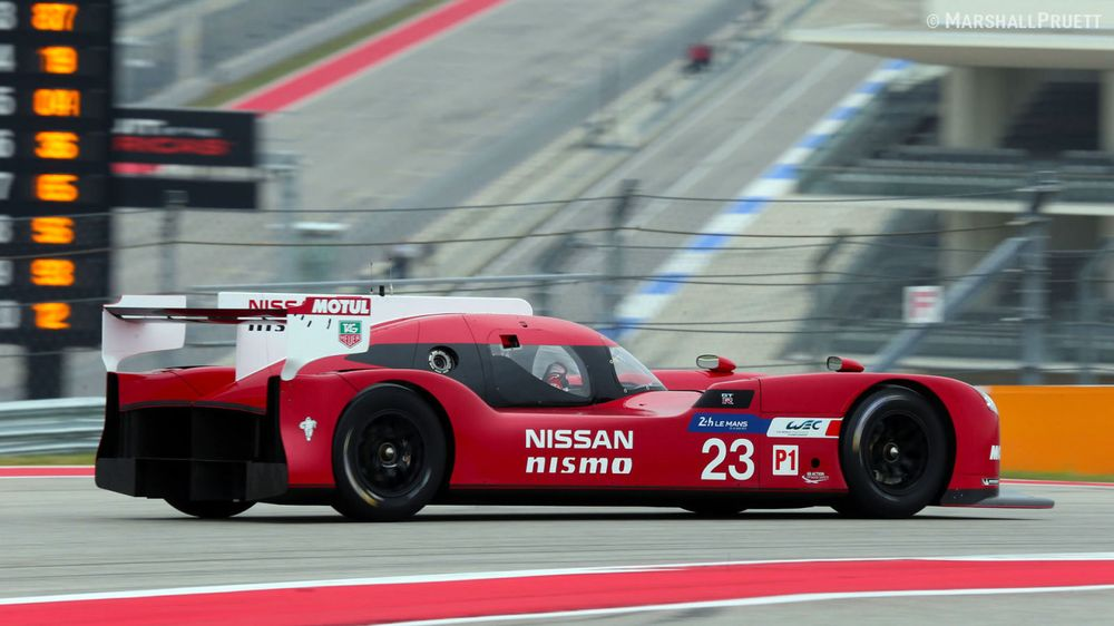 The GT-R LM during a testing session in COTA